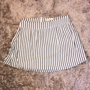 PacSun white and navy striped flowy miniskirt